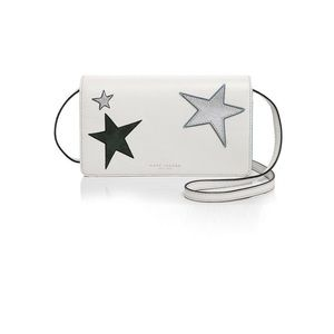 marc jacobs star patchwork wallet white crossbody